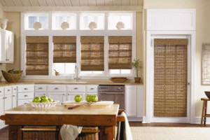Natural Roman Shades in Brazos Valley